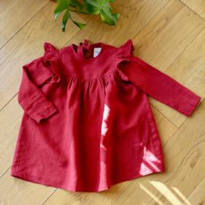 Sukienka z lnu dla dziewczynki